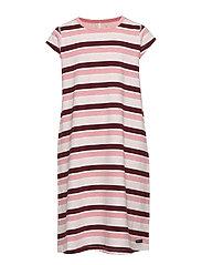 Nightdress Stripe School - TAWNY PORT