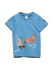 T-shirt Frontprint S/S Preschool - PARISIAN BLUE