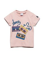 T-shirt Frontprint S/S Preschool - SILVER PINK