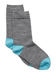 Socks Wool Solid School - GREYMELANGE