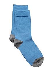 Socks Wool Solid School - PARISIAN BLUE