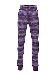Trousers Wool Jaquard Preschool - ASTER PURPLE