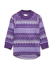 Top Wool Jaquard Pre school - ASTER PURPLE