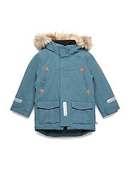 Jacket Padded w Hood Preschool - STORM BLUE