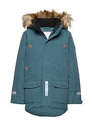 Jacket Padded w Hood School - STORM BLUE