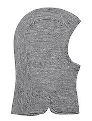 Balaclava Wool Solid preschool - GREYMELANGE