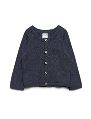 Polarn O. Pyret Top L/S Knitted Baby - DARK SAPPHIRE