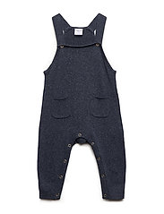 Polarn O. Pyret Jumpsuit Knitted Baby - DARK SAPPHIRE