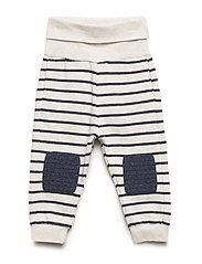 Trouser Jersey Striped Baby - ECRU MELANGE