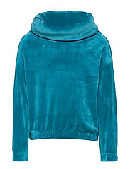 Top l/s velour solid School - CELESTIAL