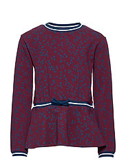 Top L/S AOP School - TAWNY PORT