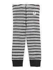 Long Johns Wool Striped Baby - GREYMELANGE