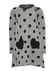 Dress l/s Wool AOP PreSchool - GREYMELANGE