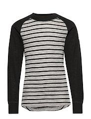Sweater Wool Striped School - GREYMELANGE