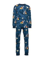 Disney Collection Pyjamas AOP Preschool - DARK BLUE
