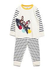 Pyjamas Striped Preschool - EGRET