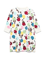 Disney Collection Nightdress L/S AOP Preschool - EGRET
