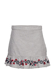 Skirt w embroidery School - GREYMELANGE