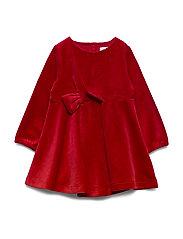 Dress solid w detail Preschool - CHILI PEPPER