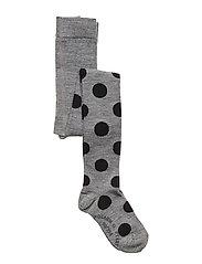 Tights Wool Jaquard Preschool - GREYMELANGE