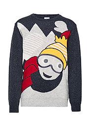 Sweater Knitted School - DARK SAPPHIRE