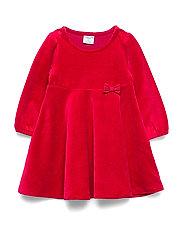 Polarn O. Pyret Dress L/S Velour Baby - CHILI PEPPER