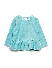 Polarn O. Pyret Cardigan velour Baby - MARINE BLUE