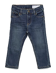 Super slim fit, stretch jeans - BLUE DENIM