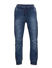 Denim pull-on pants - BLUE DENIM