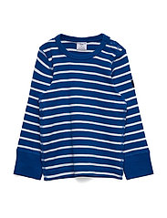T-shirt L/S Stripe Preschool - PRINCESS BLUE