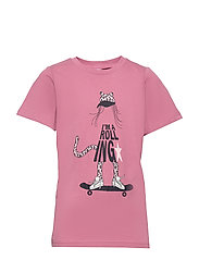 T-shirt Frontprint s/s School - HEATHER ROSE