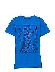 T-shirt Frontprint s/s School - PRINCESS BLUE