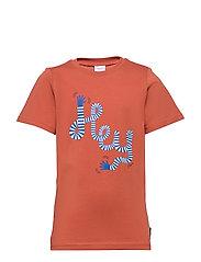 T-shirt Frontprint s/s School - REDWOOD