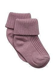 Sock Solid Baby - MAUVE SHADOWS