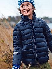 Polarn O. Pyret - Jacket Padded Solid School - dunjakker & forede jakker - dark sapphire - 0