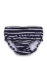 Coated Swim Pant Striped Baby - DARK SAPPHIRE