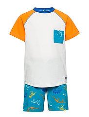Pyjamas S/S AOP Preschool - BLUEBIRD