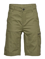 Shorts woven solid School - OLIVINE
