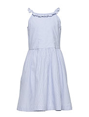 Dress Woven w Frill School - SNOW WHITE