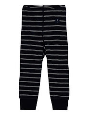 Long Johns Wool Striped Baby - DARK SAPPHIRE