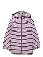 Rain Jacket Stripe Preschool - DAWN PINK