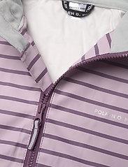 Polarn O. Pyret - Rain Jacket Stripe Preschool - overall - dawn pink - 3