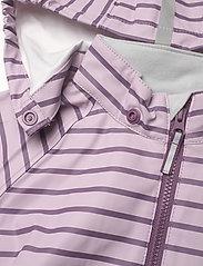 Polarn O. Pyret - Rain Jacket Stripe Preschool - overall - dawn pink - 4