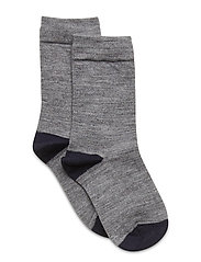 Socks Wool Solid Preschool - GREYMELANGE