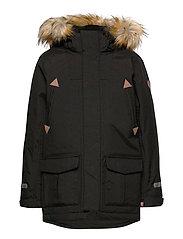 Jacket Padded w Hood School - BLACK