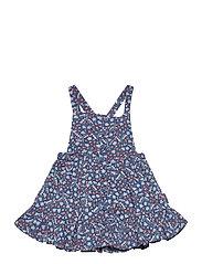 Dungaree Dress AOP Preschool - ENSIGN BLUE