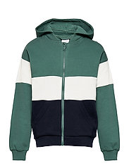 Zip up l/s hood School - BLUE SPRUCE