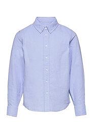 Shirt Solid Oxford School - BLUE FOG