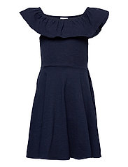 Dress Jersey solid s/s School - DARK SAPPHIRE