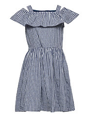 Dress woven checked School - ENSIGN BLUE